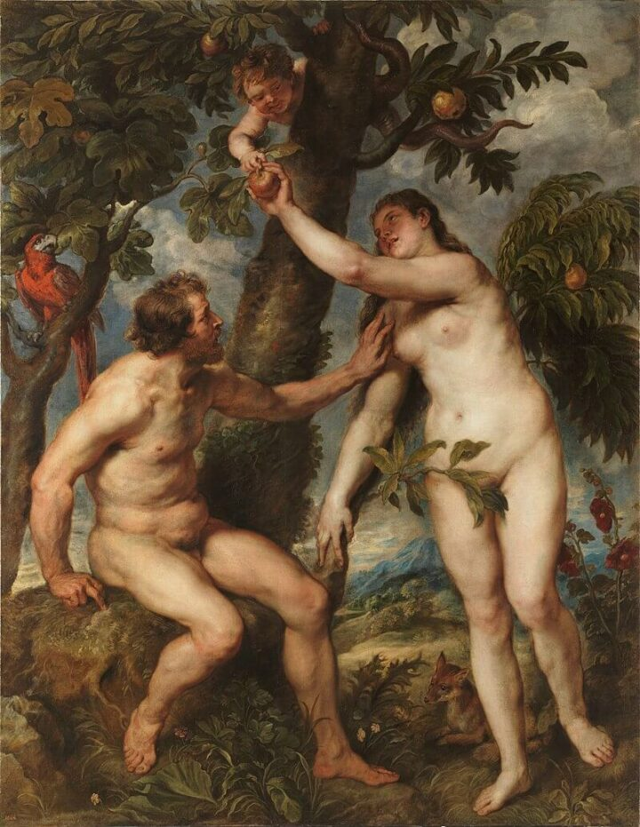 Art from Prado Museum Madrid Spain Adam and Eve Peter Paul Rubens